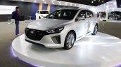 Hyundai Ioniq front three quarters at 2016 Bogota Auto Show