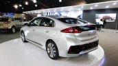 Hyundai Ioniq rear three quarters left side at 2016 Bogota Auto Show