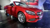 Mercedes C Class Cabriolet front three quarter launched
