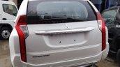 Mitsubishi Montero Sport white rear at 2016 Bogota Auto Show