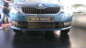 New Skoda Rapid (facelift) blue bumper launch images