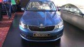 New Skoda Rapid (facelift) blue front launch images