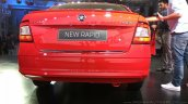 New Skoda Rapid (facelift) red rear launch images