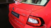 New Skoda Rapid (facelift) red rear end launch images