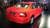 New Skoda Rapid (facelift) red rear quarter launch images