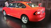 New Skoda Rapid (facelift) red rear three quarter launch images