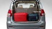 Proton Ertiga boot luggage loaded