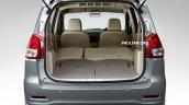 Proton Ertiga boot rear seats folded