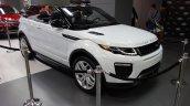 Range Rover Evoque Convertible front three quarters at 2016 Bogota Auto Show