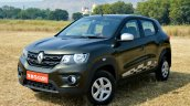 Renault Kwid 1.0L Easy-R AMT front quarter Review