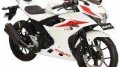 Suzuki GSX-R150 white front three quarter at IMOS 2016
