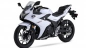 Suzuki GSX250R white front three quarter
