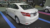Toyota Vios Exclusive rear three quarter at the Thai Motor Expo Live