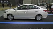 Toyota Vios Exclusive side at the Thai Motor Expo Live