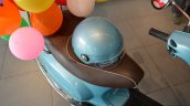 Vespa VXL 70th Anniversary Edition seat and helmet launched