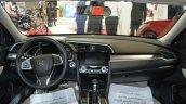 2016 Honda Civic sedan interior dashboard at 2016 Oman Motor Show