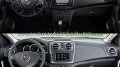 2017 Dacia Logan sedan vs 2012 Dacia Logan sedan interior Old vs New