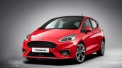 2017 Ford Fiesta front three quarters studio image