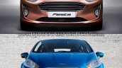 2017 Ford Fiesta vs 2013 Ford Fiesta front Old vs New