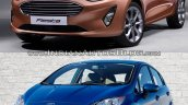 2017 Ford Fiesta vs 2013 Ford Fiesta front quarter Old vs New