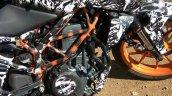 2017 KTM Duke 390 right side India spy shot