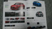 2017 Maruti Suzuki Swift RS model brochure leak
