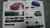 2017 Maruti Suzuki Swift RS model brochure leak