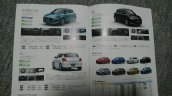 2017 Maruti Suzuki Swift regular model brochure leak