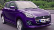 2017 Maruti Swift purple rendered