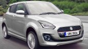 2017 Maruti Swift silver rendered