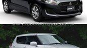2017 Suzuki Swift (lower variant) vs 2010 Suzuki Swift front Old vs New