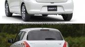 2017 Suzuki Swift vs 2010 Suzuki Swift rear quarter Old vs New