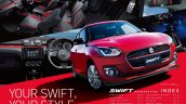 2017 Suzuki Swift with Sporty Style accessory pack front three quarters