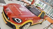 Abarth 124 Rally elevated view at 2016 Bologna Motor Show