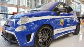 Abarth 695 Biposto YFR special edition front three quarters at 2016 Bologna Auto Show