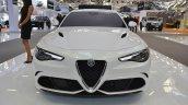Alfa Romeo Giulia Veloce front at 2016 Bologna Motor Show