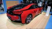 BMW i8 Protonic Red Edition rear three quarters at 2016 Thai Motor Expo
