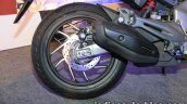 Bajaj Dominar 400 live rear wheel with exhaust