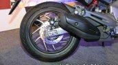 Bajaj Dominar 400 live rear wheel with exhaust