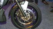 Bajaj Dominar 400 live white front wheel