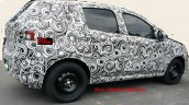 Fiat X6H rear three quarter spied testing