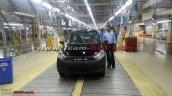 Hyundai i10 black base variant last unit at plant