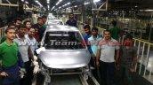 Hyundai i10 body shell last unit at plant