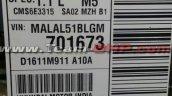 Hyundai i10 model description last unit at plant