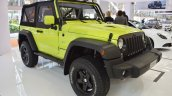 Jeep Wrangler Rubicon with MoparONE pack front three quarters at 2016 Bologna Motor Show