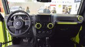 Jeep Wrangler Rubicon with MoparONE pack interior dashboard at 2016 Bologna Motor Show