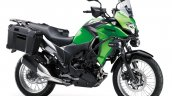 Kawasaki Versys X250 Tourer green front three quarter right