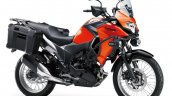 Kawasaki Versys X250 Tourer orange front three quarter right