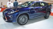 Lexus RX 350 front three quarters left side at 2016 Oman Motor Show