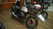 Moto Guzzi V7 II Racer front three quarter at Thai Motor Expo.